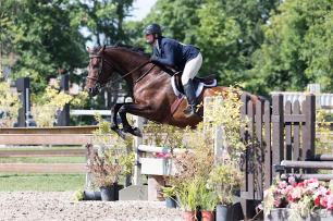 Kate Wilson & Avro Aero in the Hunters during the Central East Alliance Horse Show at Ten Sixty Stables, August 8 & 9, 2020